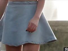 BLONDE COLLEGE GIRL UPSKIRT PANTIES
