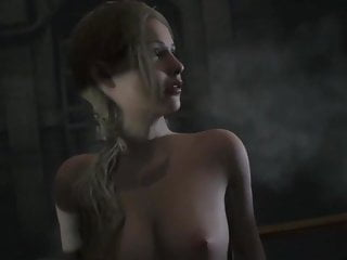 Tits Scenes porno: Resident Evil 2 Claire in Thong Cut Scenes