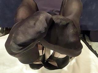 Hot my on Sweaty Feet Cum Stocking