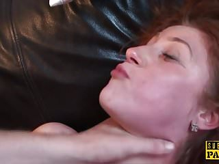 Young euro slut roughly fucked by older guy