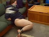 Chubby MILF duct taped struggle