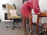 webcam mature lady in black pantyhose