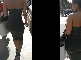 Unreal Arab Hourglass Booty in Tight Dress