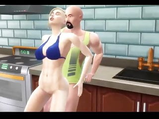 Sims 4 gets creampied kitchen...