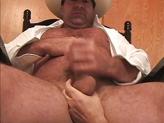 Hairy Cowboy Redneck Wanking Big Dick Bedroom Webcam