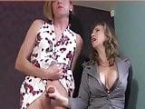 tranny handjob and cum