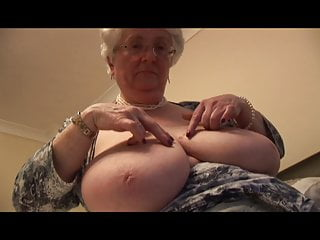 her masturbates toy granny Massive tits with