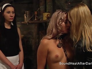 Submissive Blonde Lesbian Girl In Bondage Shaved By Maid