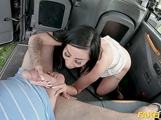 Beautiful British brunette gets fucked in the ass