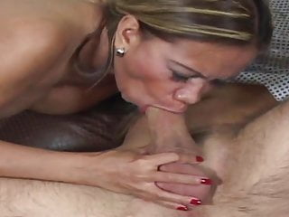 Titty fucks hunk with her bouncy tits...