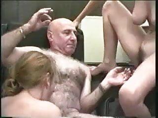 OLDER MAN SLAGS TWO PERVERTED FUCKING CHAV