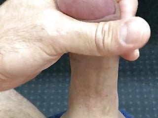 Wanking out a thick load