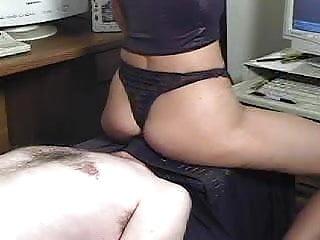 Black thong facesitting...