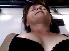On The Rubber Hood Of A Van In A Shaved Pussy
