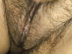 Morning fun, Mexican Latina wife showing tits and pussy