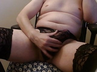 Daddy in stockings needs fans