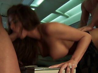 A group of passengers gets horny during a flight and fuck