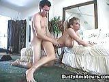 Busty Tera sucking and fucking cock