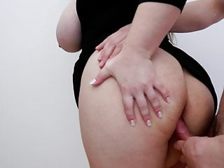 Milf with big natural tits gets cum in pussy
