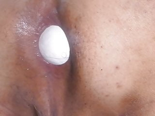 Fat Jap cum dump pig Shino spaws large egg close up