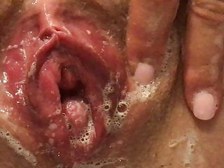 Preparing My Swollen Pussy For a Date. Close Up