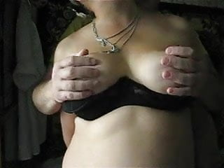 Touching her big tits and nipples 1