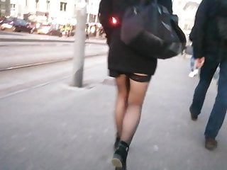 Stockings in the street