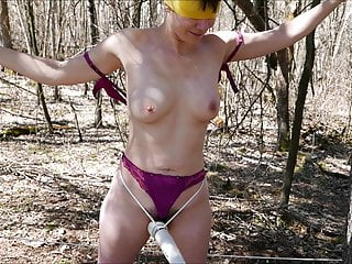 Amateur wife tied blindfold and forced orgasm...