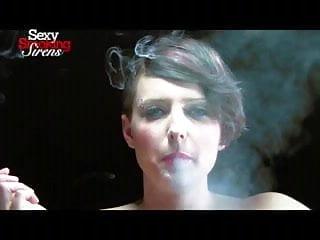 Smoking Fetish - Sexy Blonde Smokes with a Holder