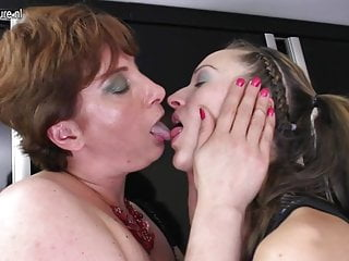 Hot young girl fucks her mature lesbian lover