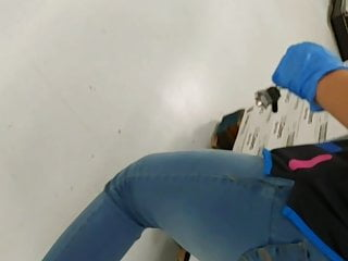 Walmart Latina worker jeans slim bubble ass