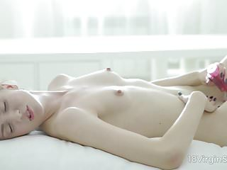 18 Virgin Sex - Sweetie fills her lonely day with fantastic