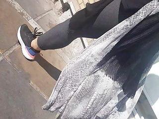 ( in in legging girl girl) gray spying persian public