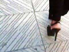 Milf high heels walking sex