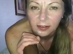 Swinger wife sucking black cock