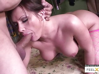Brunette slutty horny mom craves her ass licked and fucked arduous