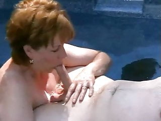 Mature slutwife sucking young the hot tub...