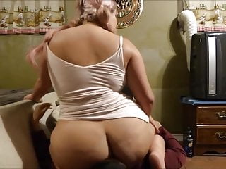 Squashed by fat ass milf...
