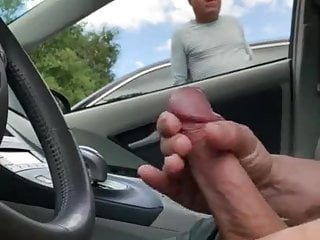 BIG JERKING COCK OFF CAR GUY IN HIS WATCHED