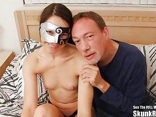 Skinny Masked Spouse Bangs Giant Black Shaft
