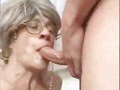 Hot Granny Blowjob