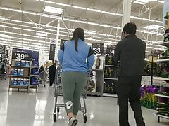 Wal-Mart Creep Shots chubby PAWG cheeks walking