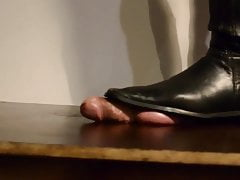 black boots cock trample