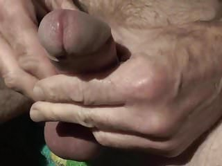 Fuckbuddy is wanking uncut dick...