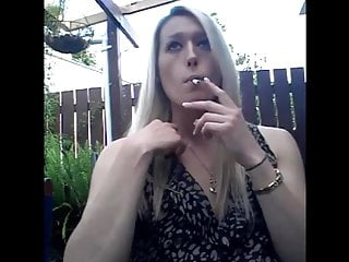 Smoking Fetish Outside  Teen Blonde