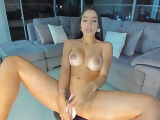 Young Spanish girl masturbating in penthouse