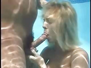 Underwater bj sperm floating...
