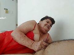 Abuela Grandma 83yo sucking grandson s cock