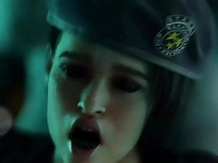 futa Tyrant fucks pregnant Jill Valentine – resident evil 3d