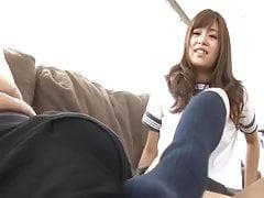 Japanese Teenie Footjob